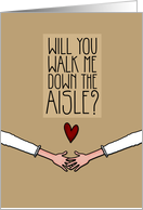 Will you walk me down the Aisle? - from Lesbian Couple card