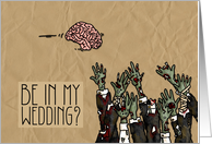 Zombie themed Wedding Invitation - male card