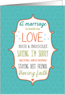Words to Live By - Wedding Congratulations card