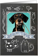 Thanks Pet Sitter Chalkboard - Photocard card