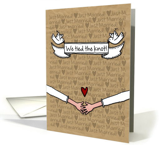 Lesbian Wedding Announcement - Just Married we tied the knot! card