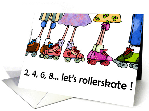 rollerskating party invitation card (113930)