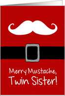 Merry Mustache - Twin Sister card