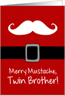 Merry Mustache - Twin Brother card