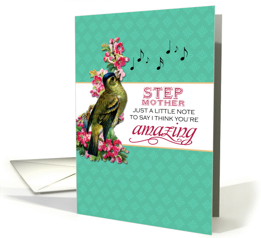 Step Mother - Singing Bird With Pink Flowers Note for... (1272198)