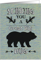 Sending Bear Hug - Summer Camp Thinking of You card