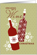 Dreaming of a Wine Christmas - for Business card