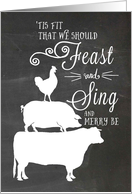 Feast and Sing and Merry Be - Business Christmas card
