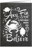 Any Fin Is Possible - Seafood Business Christmas card