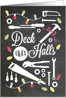 Blackboard - Deck the Halls with Hardware/Tools card