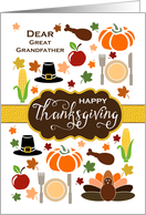 Great Grandfather - Thanksgiving Icons card