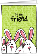easter bunny - friend card