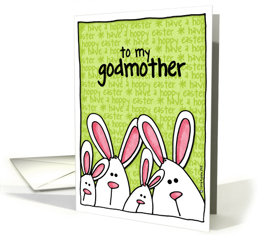 easter bunny - godmother card (141182)
