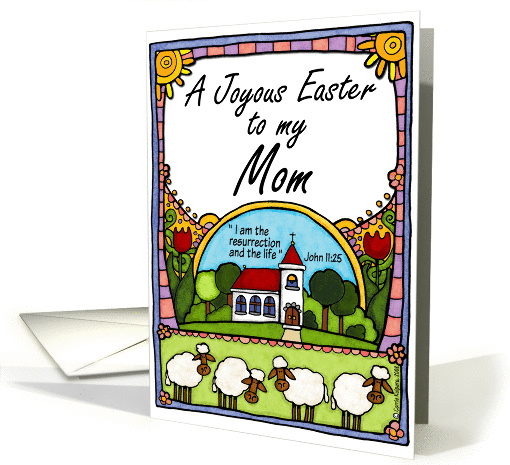 joyous easter to my mom card (142416)