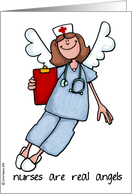 nurse's day - nurses are real angels card