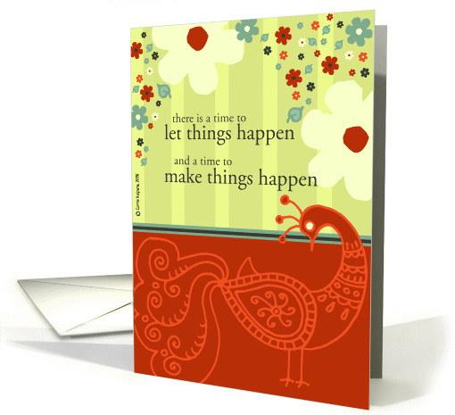 a time to make things happen card (166486)