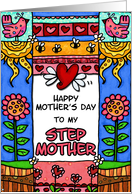 mother's day - to my step mother card