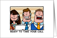 business - ready to take your call card