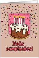 happy birthday card - Spanish card