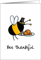 bee thankful card