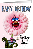 happy birthday flower - foster dad card