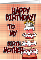 Happy birthday to my birth mother card