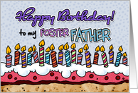 Happy birthday to my foster father card