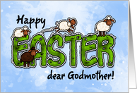 Happy Easter dear godmother card