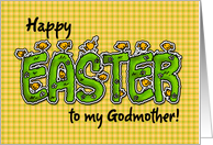 Happy Easter to my godmother card