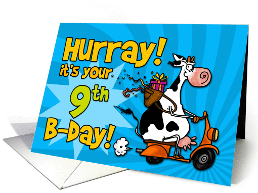 Hurray! it's your 9th birthday card (448081)