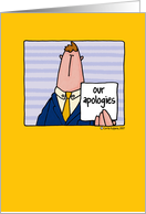 customer apology/recovery card