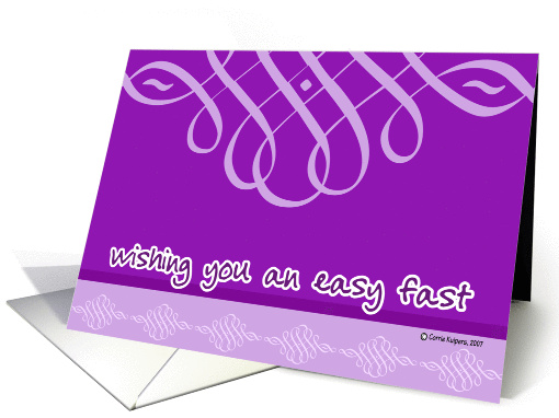 Wishing You an Easy Fast card (58240)
