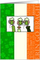 Happy St Patrick's Day - Green Beer card