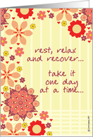 encouragement - rest, relax & recover card