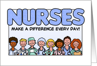 Nurses Day - Nurses Make a Difference card