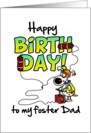 Happy Birthday to my foster dad - birthday blast card