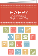 Office icons - Administrative Professionals Day card