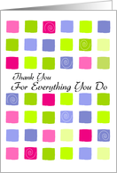Thanks - Administrative Professionals Day card
