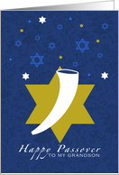 Happy Passover - shofar - to my Grandson card