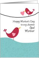 Godmother - birds - Happy Mother's Day card