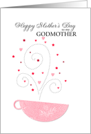 Godmother - teacup - Happy Mother's Day card