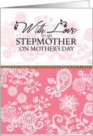 Stepmother - pink mendhi - With Love on Mother's Day card
