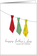 Pair of Dads - Ugly ties - Happy Father's Day card