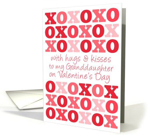 To My Granddaughter - Hugs and Kisses - Valentine's Day card (745717)