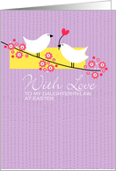 Easter Birds on branch - to my daughter-in-law card