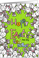 Hoppy Easter - to my godmother card