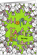 Hoppy Easter - to my godfather card