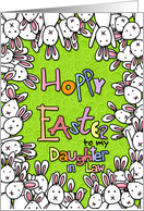 Hoppy Easter - to my daughter-in-law card