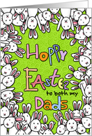 Hoppy Easter - to both my dads card