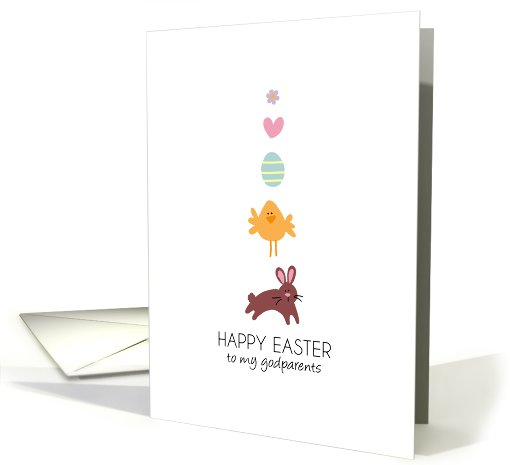 Easter line up - to my godparents card (787015)